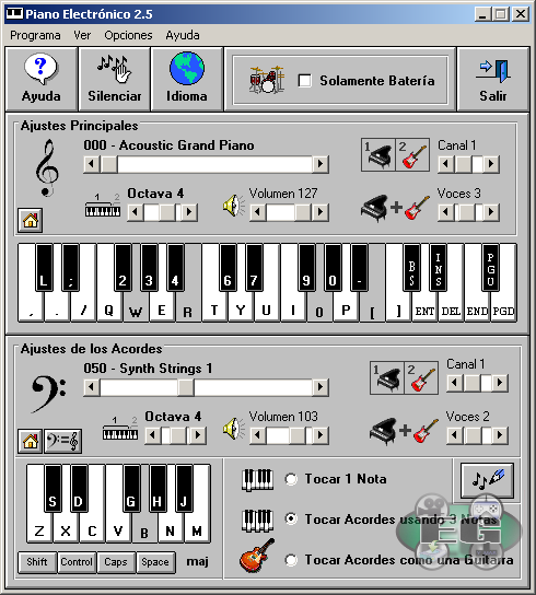 piano electronico 2.5